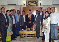 प्रधानमन्त्री प्रचण्डलाई उद्योगी व्यवसायीको बधाई